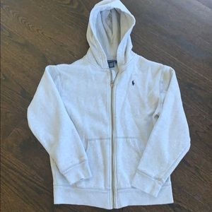 Polo Ralph Lauren grey hooded sweatshirt boys med